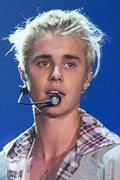 Justin Bieber, full of purose.