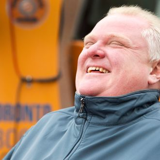06 Dec 2013, Toronto, Ontario, Canada --- Toronto Mayor Rob Ford attends a news conference at a city public works yard to discuss the city's winter snow plowing agenda December 6, 2013. REUTERS/Fred Thornhill (CANADA - Tags: POLITICS) --- Image by ? FRED THORNHILL/Reuters/Corbis