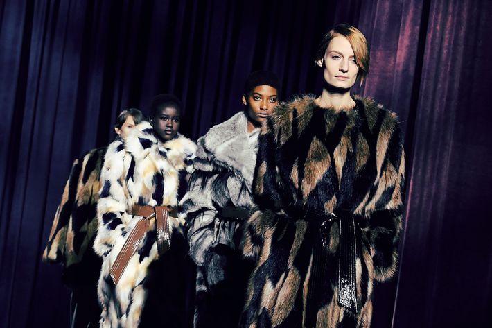Models at Givenchy.