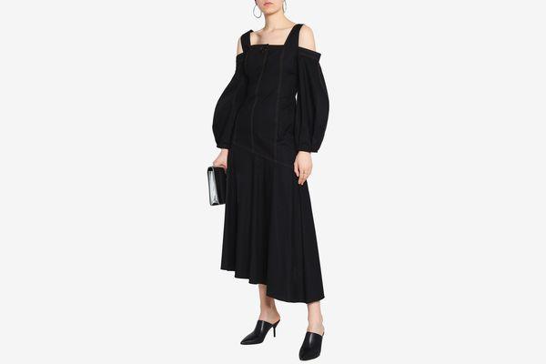 Ellery Cold-Shoulder Maxi Dress