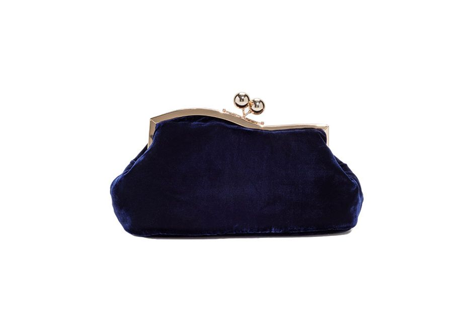 & Other Stories velvet clutch