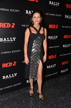 "Catherine Zeta-Jones attends The Cinema Society and Bally host a screening of Summit Entertainment's ""Red 2"" at MOMA on July 16, 2013 in New York City."