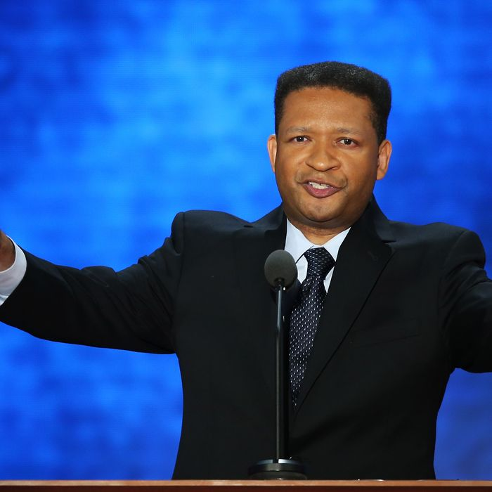 TAMPA, FL - AUGUST 28: Former U.S. Rep. Artur Davis speaks during the Republican National Convention at the Tampa Bay Times Forum on August 28, 2012 in Tampa, Florida. Today is the first full session of the RNC after the start was delayed due to Tropical Storm Isaac. (Photo by Mark Wilson/Getty Images)