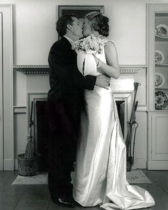 The author's wedding day.