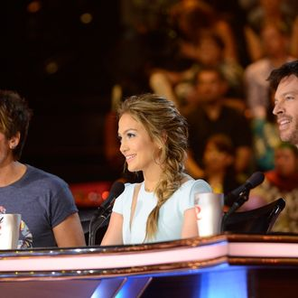 L-R: Keith Urban, Jennifer Lopez and Harry Connick, Jr. on AMERICAN IDOL XIII airing Wednesday, March 19.