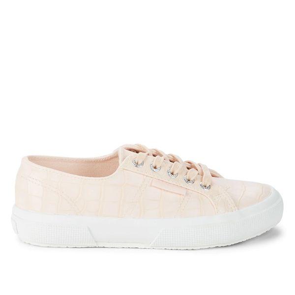Superga Croc-Embossed Platform Sneakers