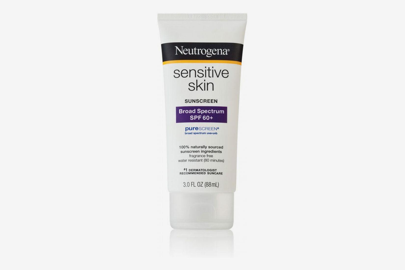 Lotion écran solaire pour la peau sensible à large spectre FPS 60+ Neutrogena