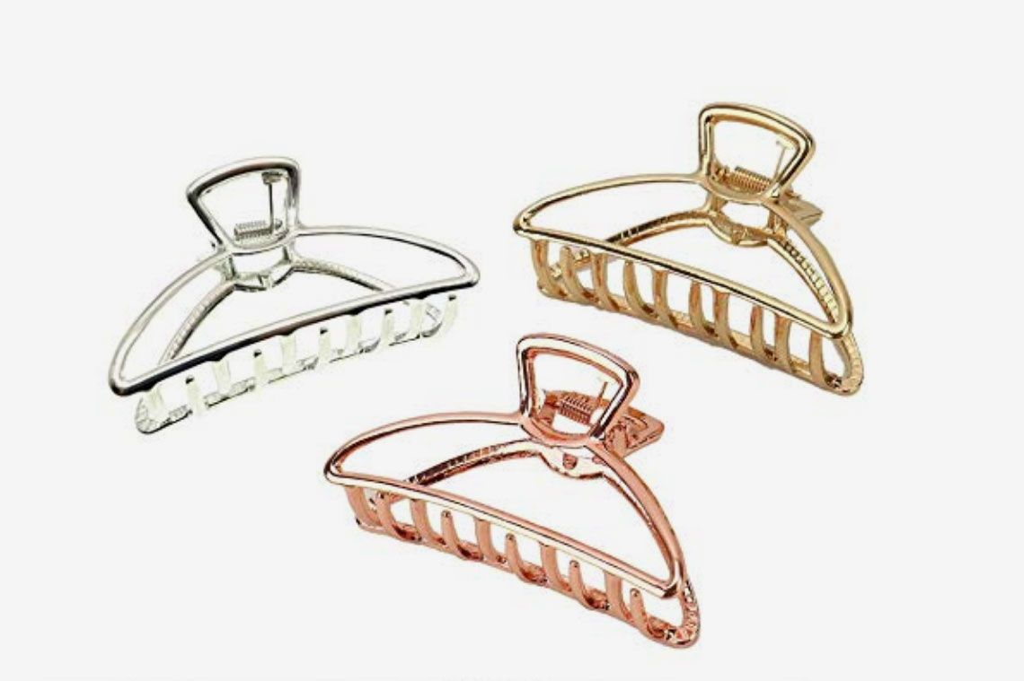 VinBee 3 Pack Large Metal Claw Clips
