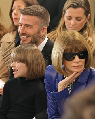 Harper and David Beckham, and Anna Wintour.