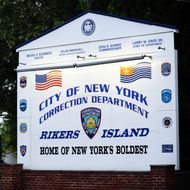 A sign of Rikers Island, where IMF head Dominique Strauss-Kahn will be held, is pictured in Queens, New York on May 16, 2011. A New York judge denied IMF chief Dominique Strauss-Kahn bail on Monday, despite an offer from his defense team to put up $1 million in cash and surrender all his travel documents. The judge ordered the IMF chief detained, two days after he was pulled off a plane and accused of trying to rape a Manhattan hotel chambermaid. AFP PHOTO/Jewel Samad (Photo credit should read JEWEL SAMAD/AFP/Getty Images)