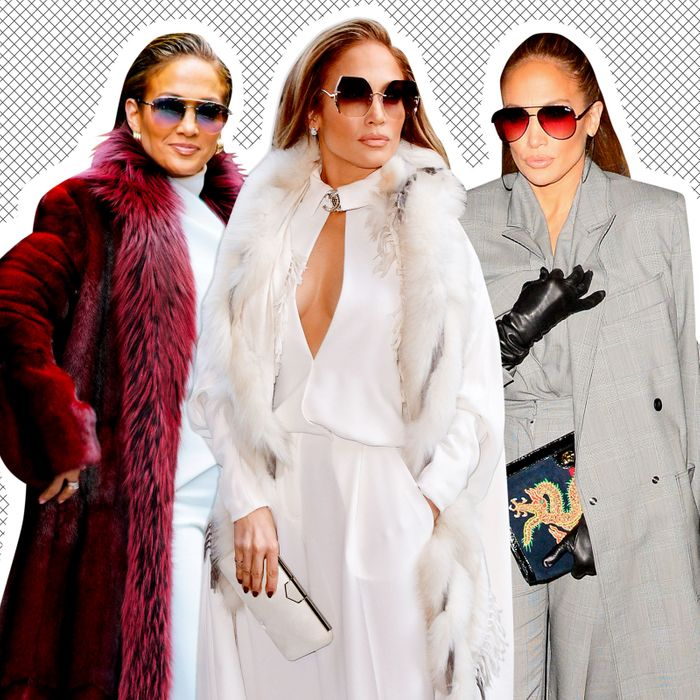 Jennifer Lopez in a really good coat