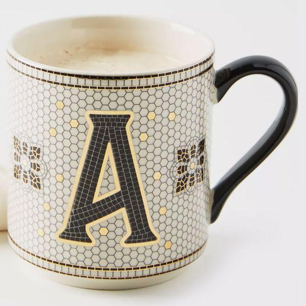 Bistro Tiled Margot Monogram Mug