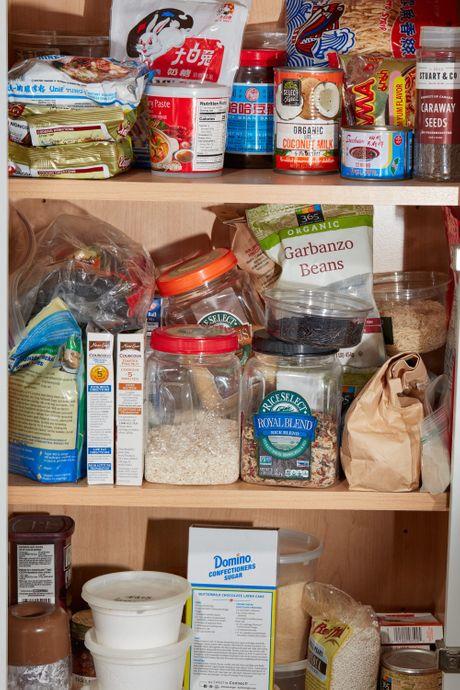 A pantry shelf