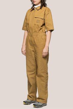 Stussy Short Sleeve Work Suit in Mustard