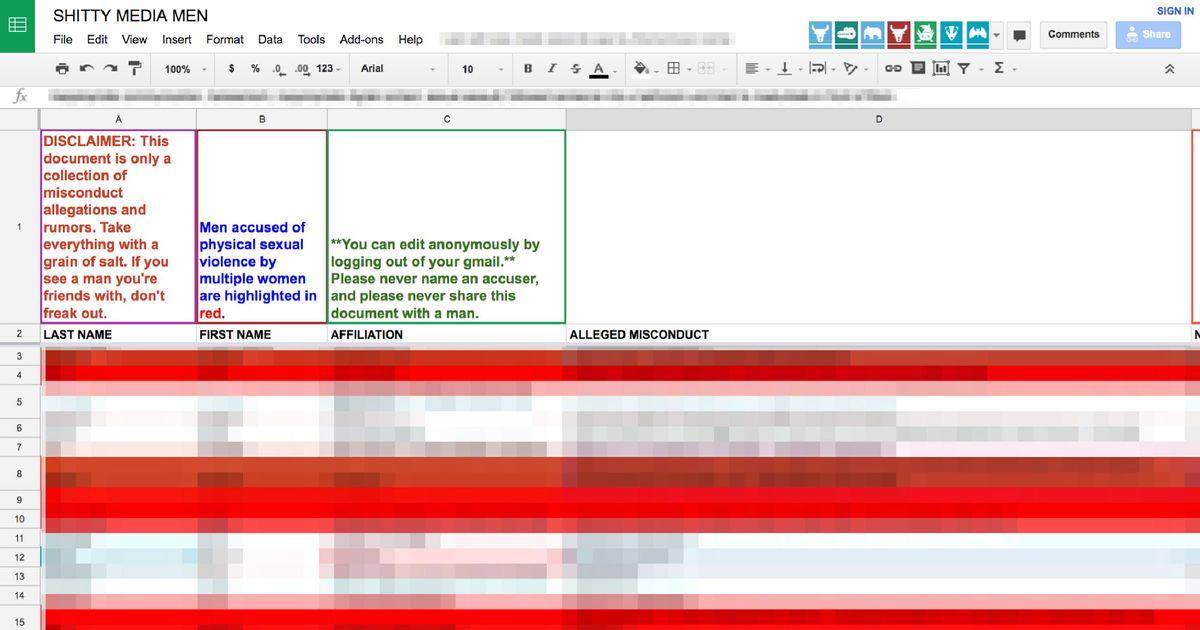 Mans dating spreadsheet goes viral