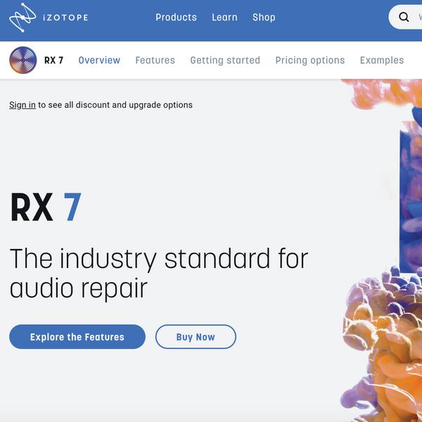 iZotope RX7 Audio Repair Software