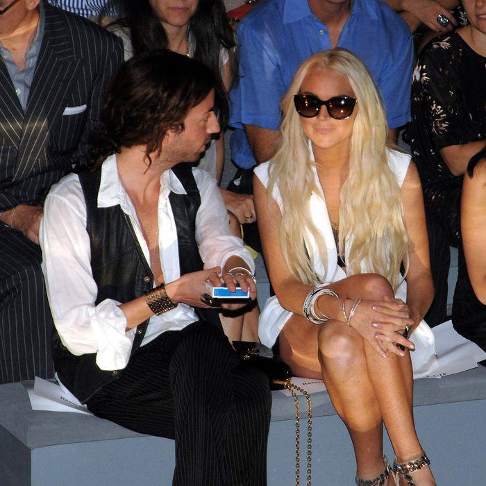 Lindsay Lohan and swashbuckling friend.