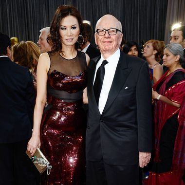 News Corp. Founder/CEO Rupert Murdoch (R) and Wendi Deng Murdoc arrive at the Oscars at Hollywood & Highland Center on February 24, 2013 in Hollywood, California.
