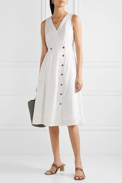J.Crew Rosina Cotton-Poplin Wrap Dress