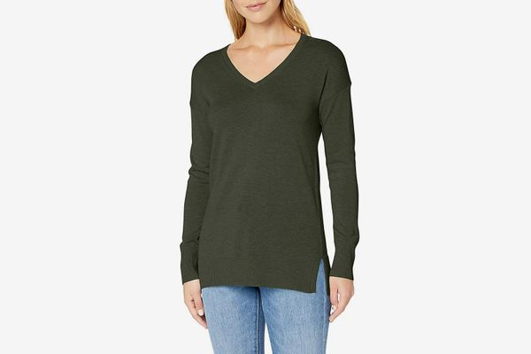 Amazon Essentials Women's Lightweight V-Neck Tunic Sweater