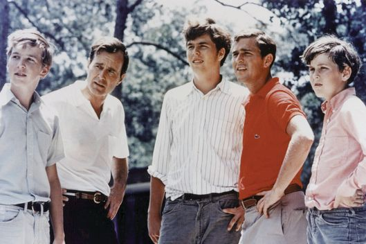 """Neil, George H.W., Jeb, George W., and Marvin Bush in 1970. Photo:  Newsmakers/Getty Images. """""""