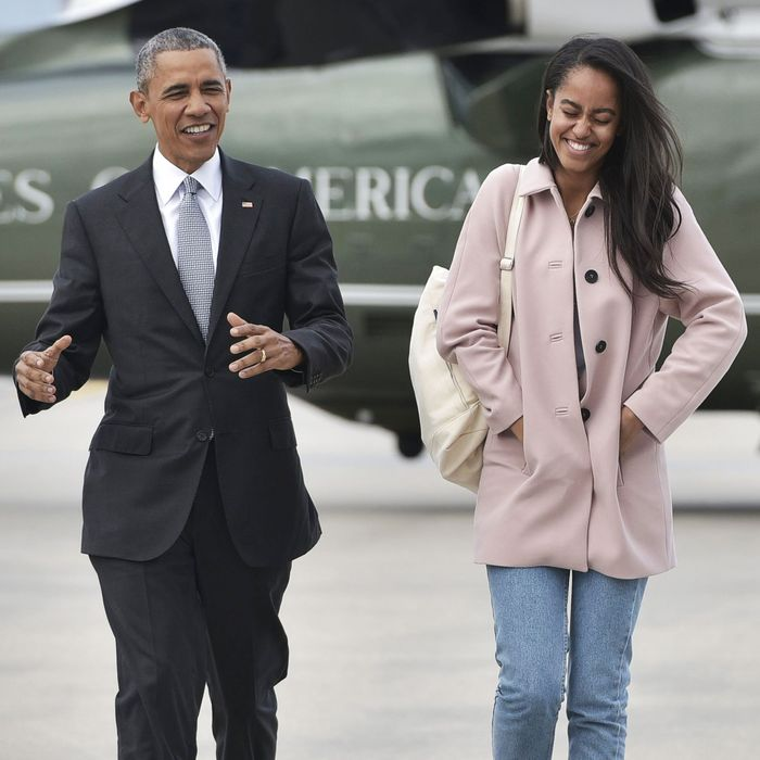 Malia and President Obama.