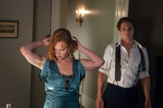 BOARDWALK EMPIRE episode 23 (season 2, episode 11): Gretchen Mol, Michael Pitt.