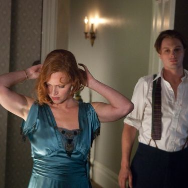 BOARDWALK EMPIRE episode 23 (season 2, episode 11): Gretchen Mol, Michael Pitt.