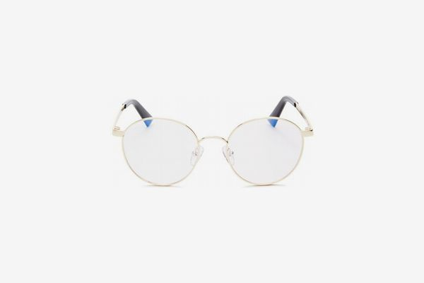 The Book Club Women's Bothering Sights Round Blue Screen Filter Glasses