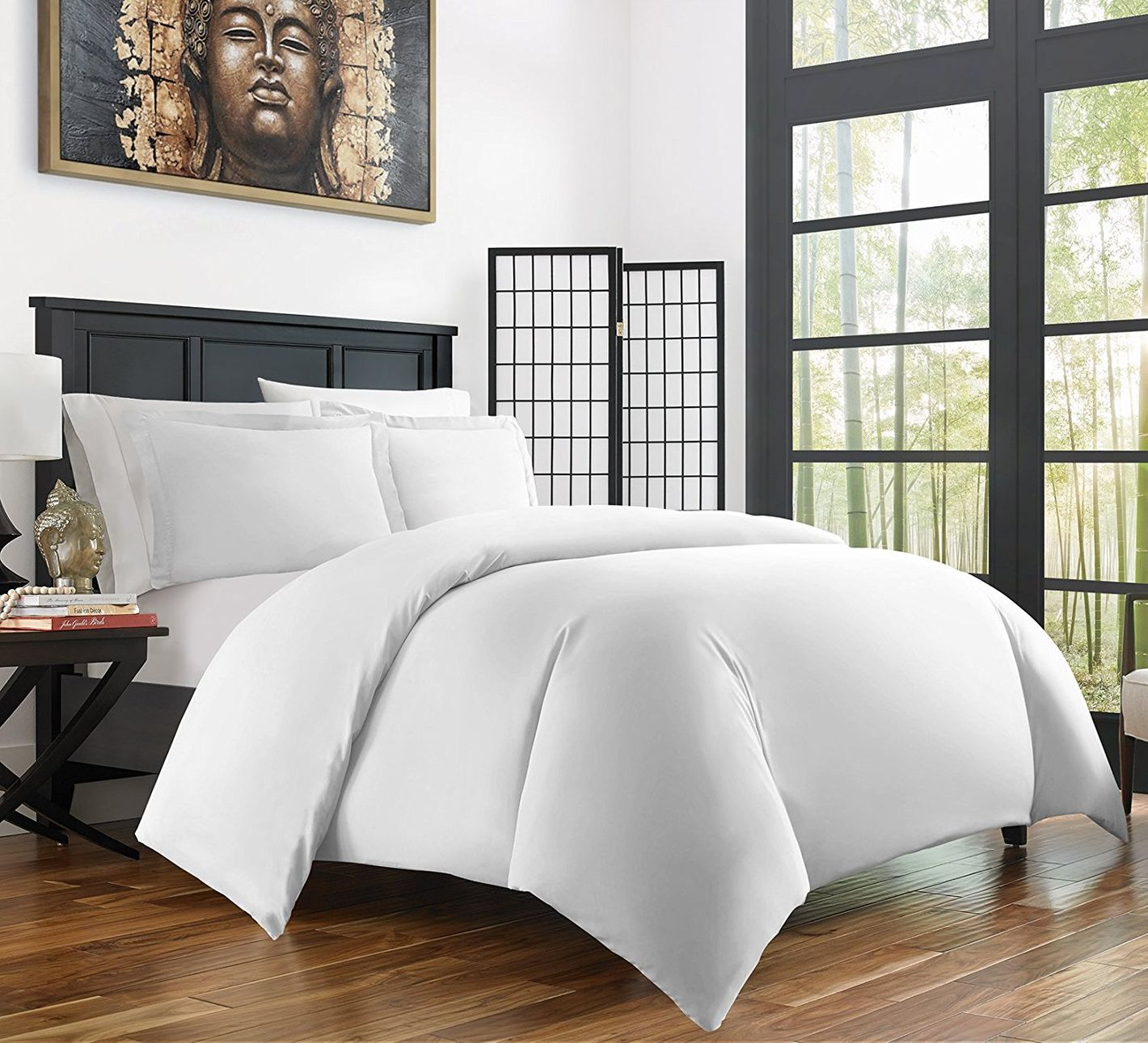 Zen Bamboo Ultra-Soft 3-Piece Bamboo-Derived Rayon Duvet Cover Set