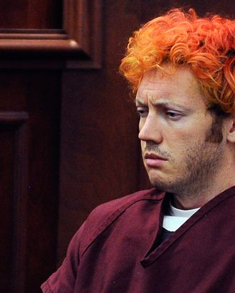 CENTENNIAL, CO - JULY 23: Accused movie theater shooter James Holmes makes his first court appearance at the Arapahoe County on July 23, 2012 in Centennial, Colorado. According to police, Holmes killed 12 people and injured 58 others during a shooting rampage at an opening night screening of