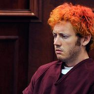 "CENTENNIAL, CO - JULY 23:  Accused movie theater shooter James Holmes makes his first court appearance at the Arapahoe County on July 23, 2012 in Centennial, Colorado. According to police, Holmes killed 12 people and injured 58 others during a shooting rampage at an opening night screening of ""The Dark Knight Rises"" July 20, in Aurora, Colorado.  (Photo by RJ Sangosti-Pool/Getty Images)"