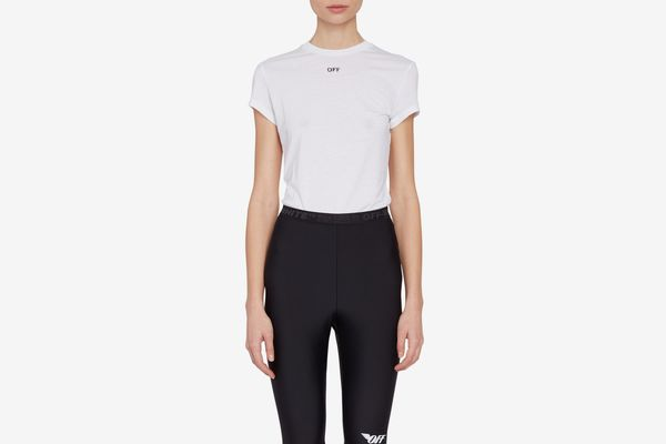 Off-White Basic Fitted Tee-Shirt