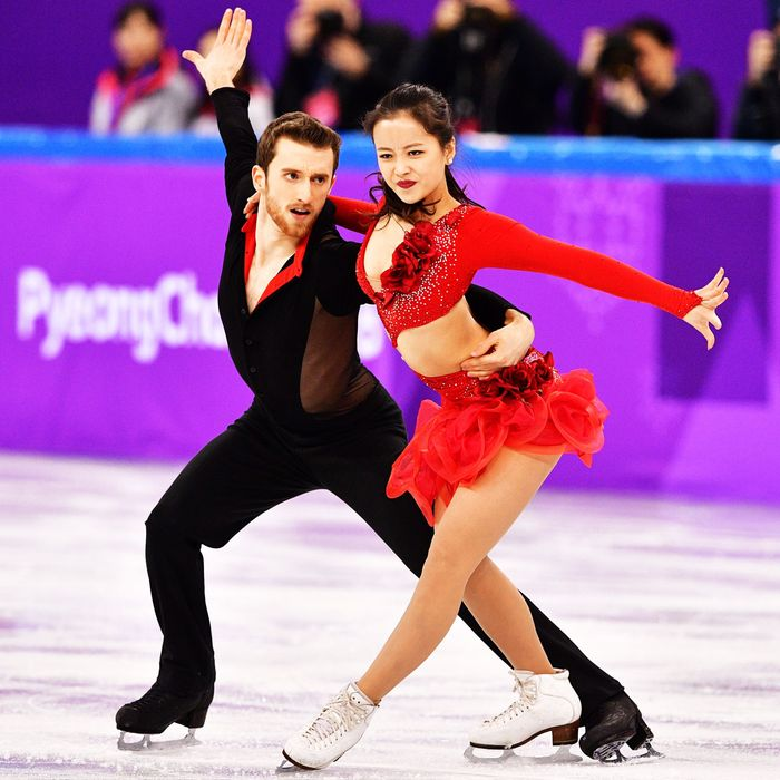 South Korea's Yura Min and Alexander Gamelin.