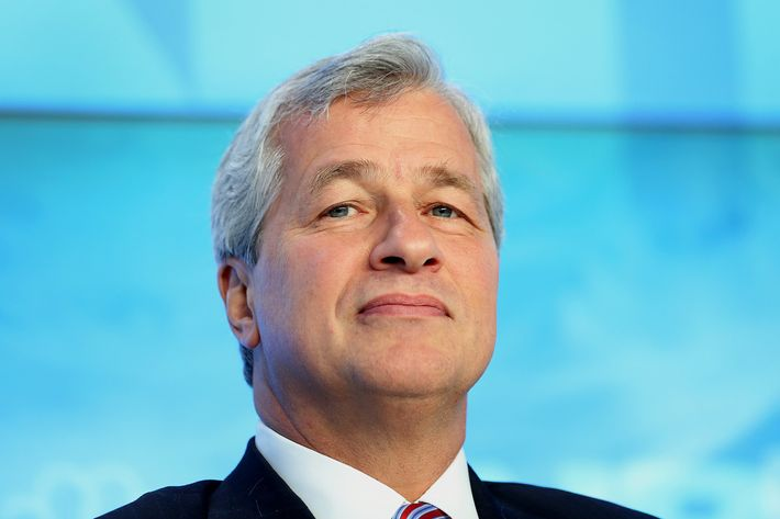 "James ""Jamie"" Dimon, chief executive officer of JPMorgan Chase & Co., listens during a panel discussion on the opening day of the World Economic Forum (WEF) in Davos, Switzerland, on Wednesday, Jan. 23, 2013. World leaders, Influential executives, bankers and policy makers attend the 43rd annual meeting of the World Economic Forum in Davos, the five day event runs from Jan. 23-27."