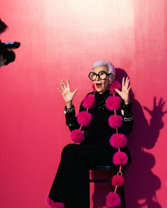 Iris Apfel in the INC campaign.