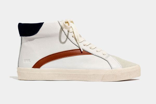 Madewell Sidewalk High-Top Sneakers in Colorblock Leather