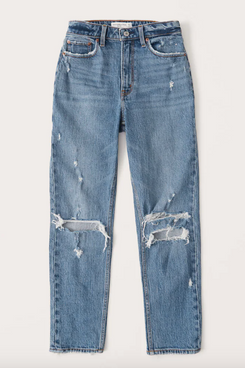 Abercrombie Curve Love High Rise Mom Jeans