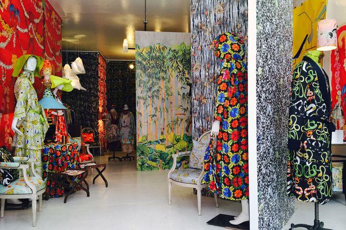 George Venson of Voutsa's Vanity Project pop-up shop at 179 Mott Street.