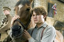 """""""WAR HORSE""""  DM-AC-00047  Albert (Jeremy Irvine) and his horse Joey are featured in this scene from DreamWorks Pictures' """"War Horse"""", director Steven Spielberg's epic adventure for audiences of all ages, set against a sweeping canvas of rural England and Europe during the First World War.  Ph: Andrew Cooper, SMPSP  ?DreamWorks II Distribution Co., LLC. ?All Rights Reserved."""