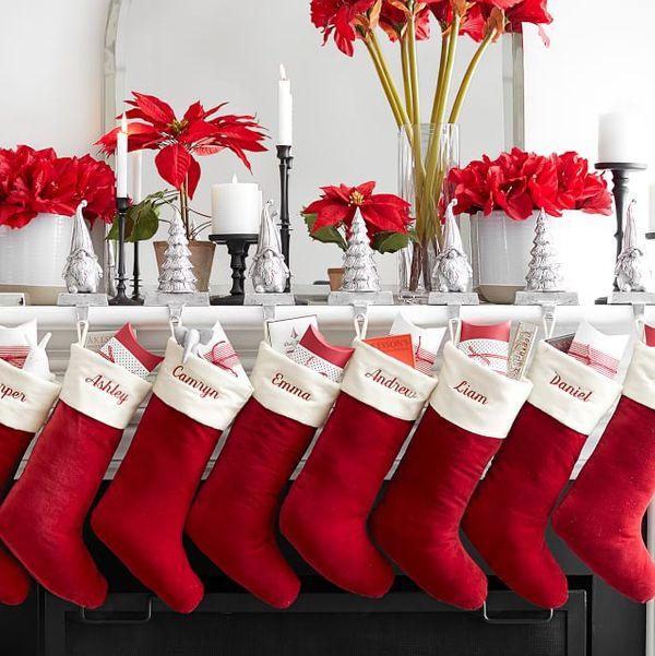 Pottery Barn Classic Velvet Personalized Stockings