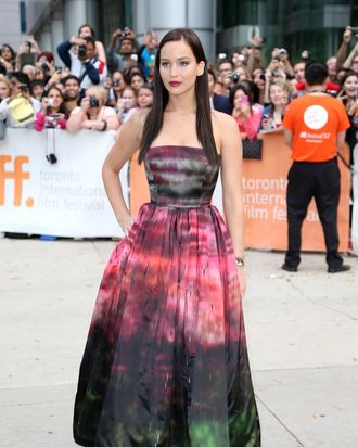 Jennifer Lawrence in Dior Couture.