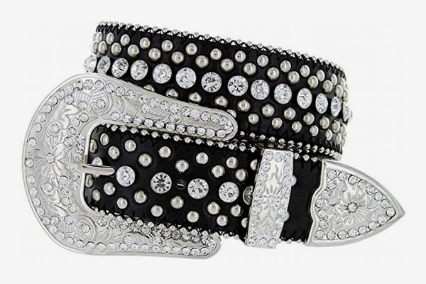 Women's Cowgirl Style Western Belt with Rhinestones and Studs