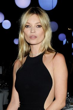 Kate Moss attends a cocktail reception at the Stella McCartney Special Presentation during London Fashion Week Autumn/Winter 2012 a One Mayfair on February 18, 2012 in London, England.
