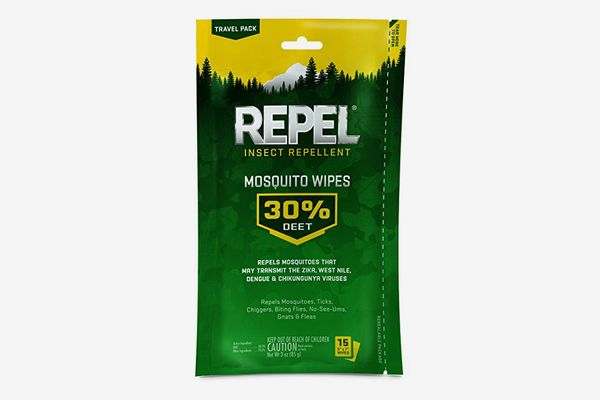 Repel Sportsmen Mosquito Repellent Wipes, 15 Count, 6-pack