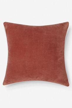 Charlotte Velvet Pillow, Coral