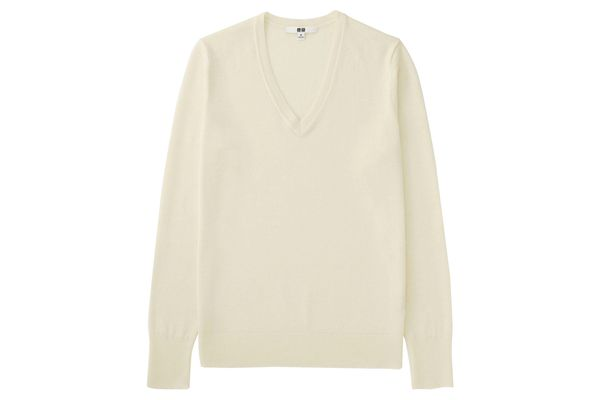 Extra-Fine Merino V-neck Sweater