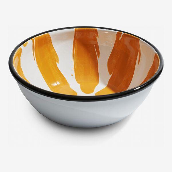 MoMA Design Store Striped Enamel Bowl