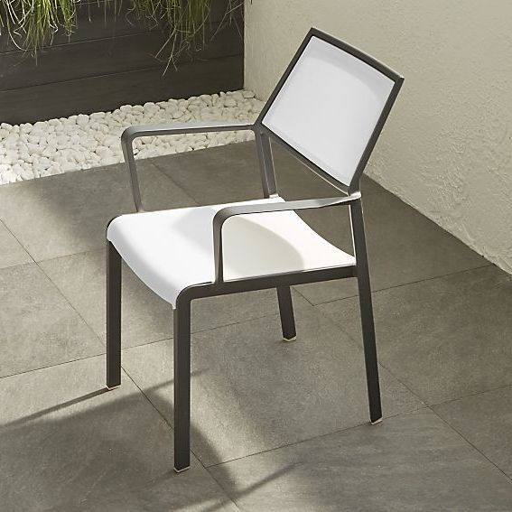 CB2 Lanai Mesh Square Dining Chair