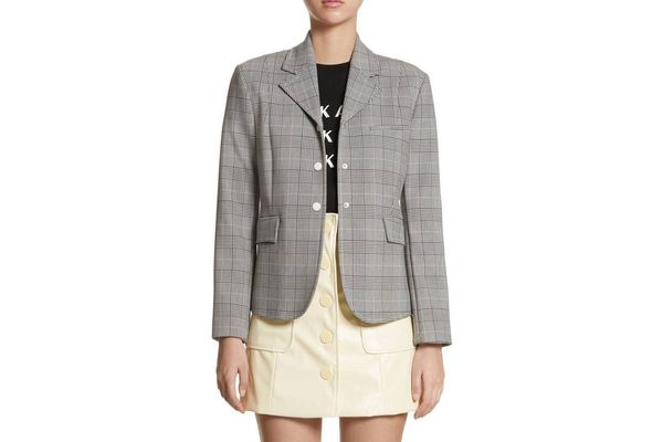 Ganni Garvey Plaid Blazer